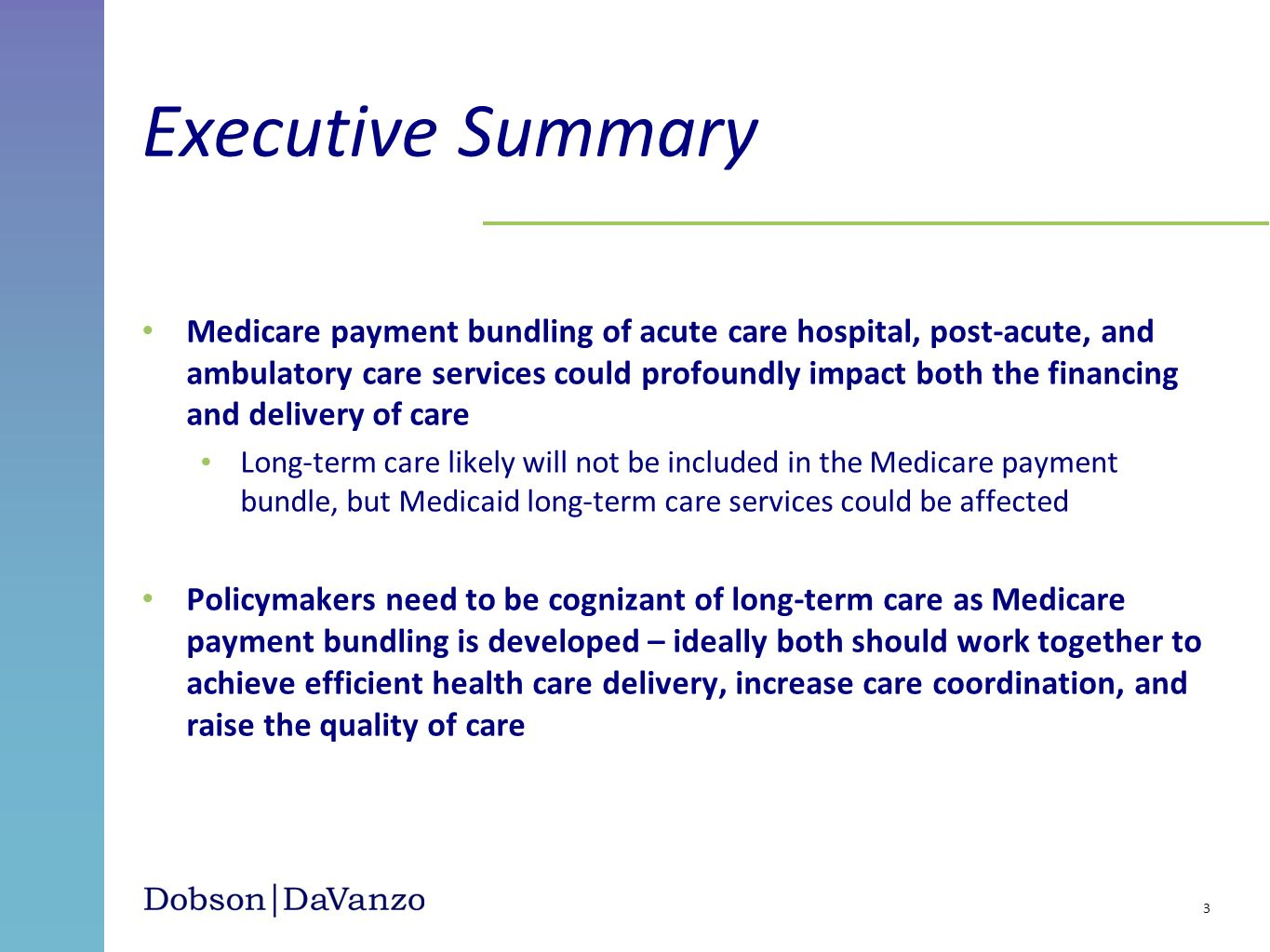 Medicare payment bundling of acute care hospital, post-acute, and ambulatory care services could profoundly impact both the financing and delivery of