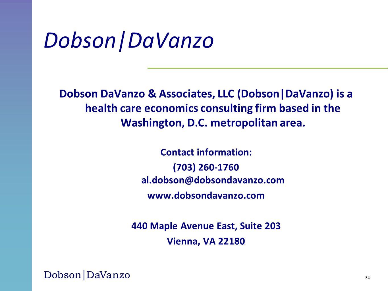 Dobson DaVanzo & Associates, LLC (Dobson|DaVanzo) is a health care economics consulting firm based in the Washington, D.C. metropolitan area. Contact