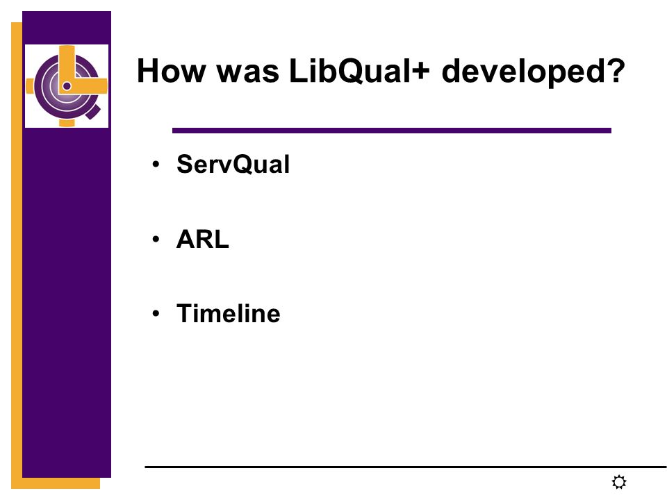 R How was LibQual+ developed ServQual ARL Timeline