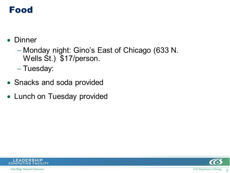 3 Food Dinner Monday night: Ginos East of Chicago (633 N.