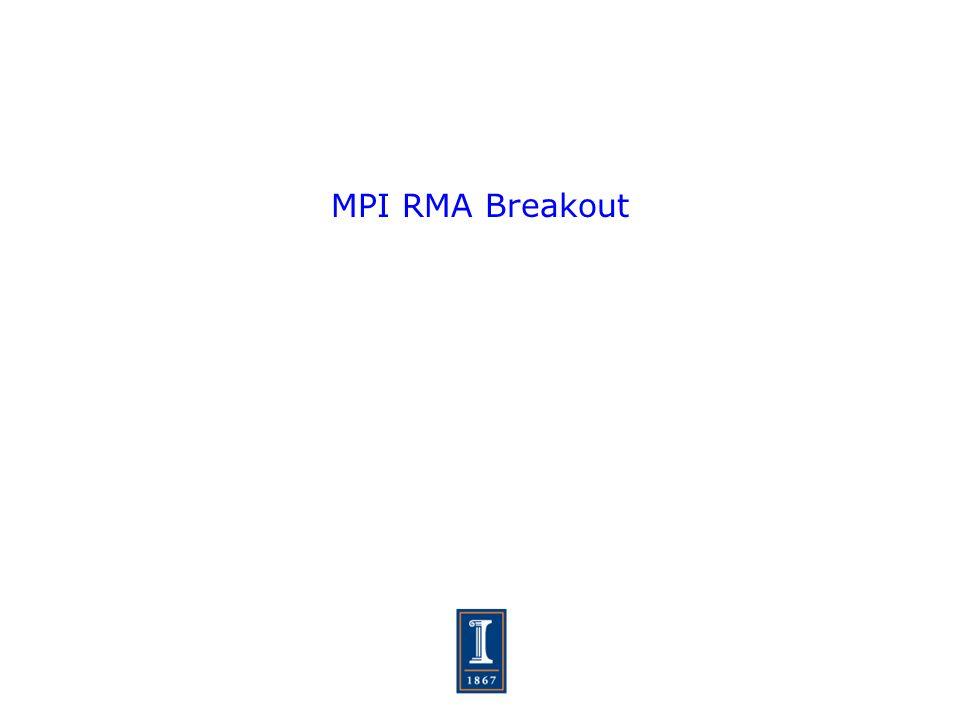 MPI RMA Breakout