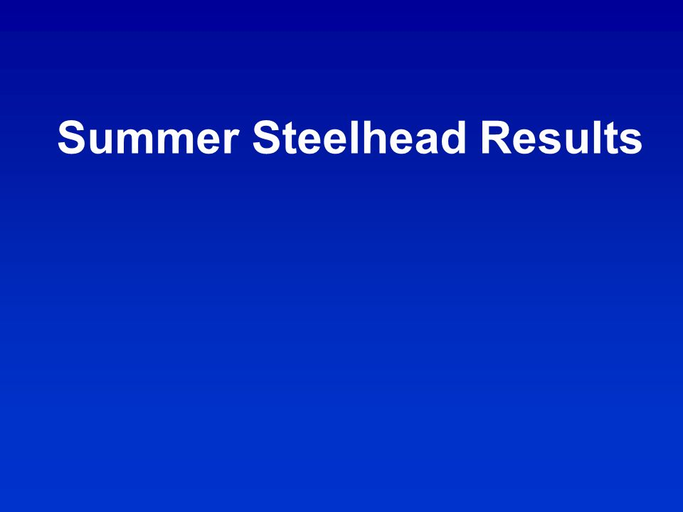 Summer Steelhead Results