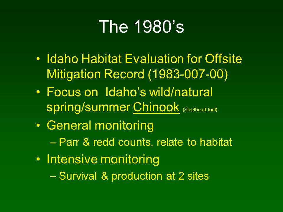 Chinook Metapopulation Structure
