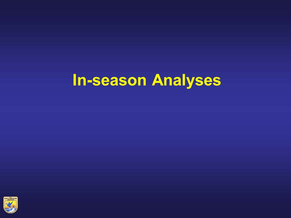 In-season Analyses