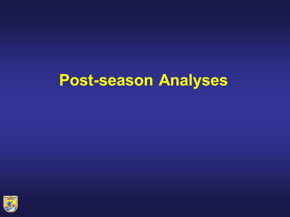 Post-season Analyses