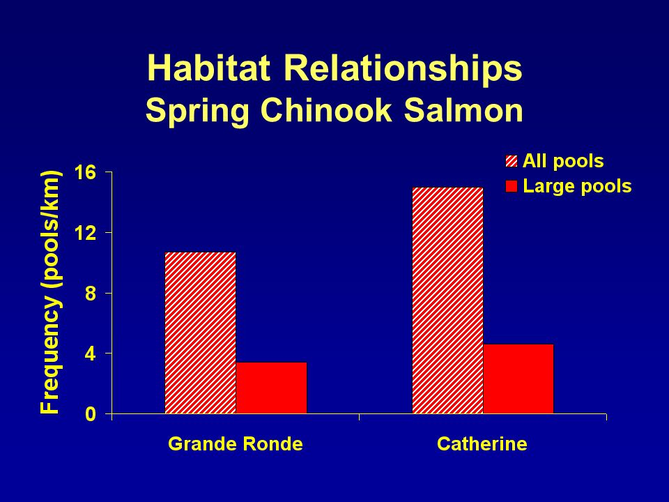 Habitat Relationships Spring Chinook Salmon