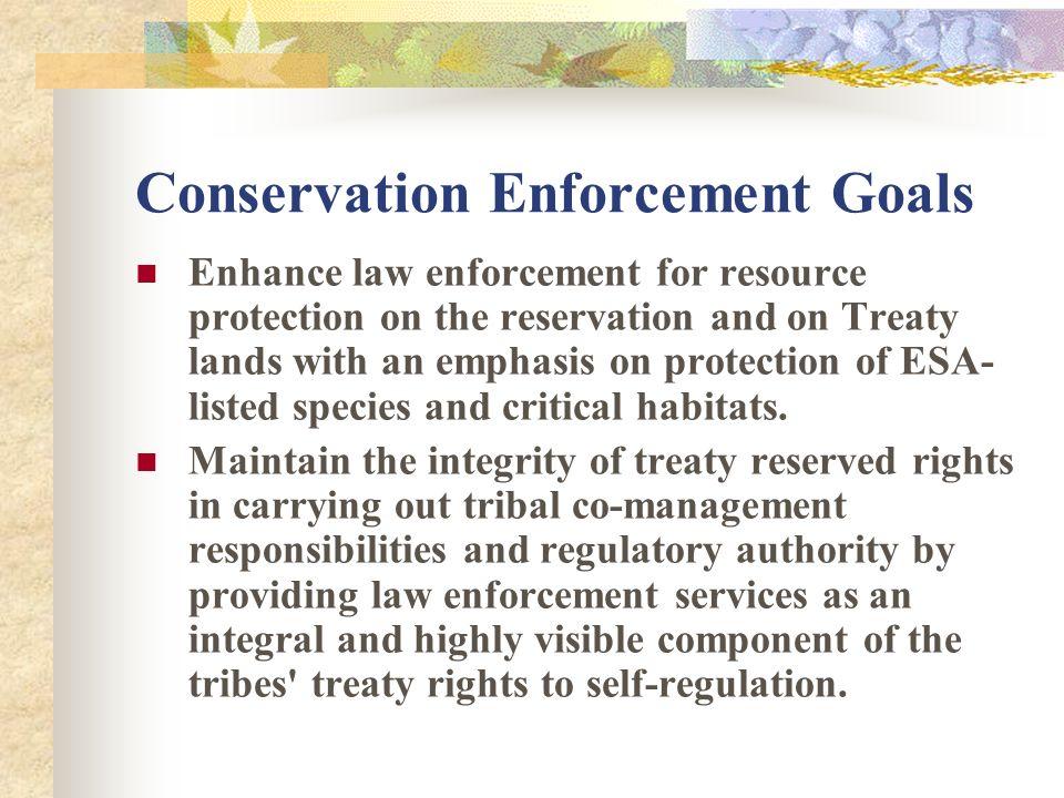 Conservation Enforcement – is a Division under NPT Fisheries Management