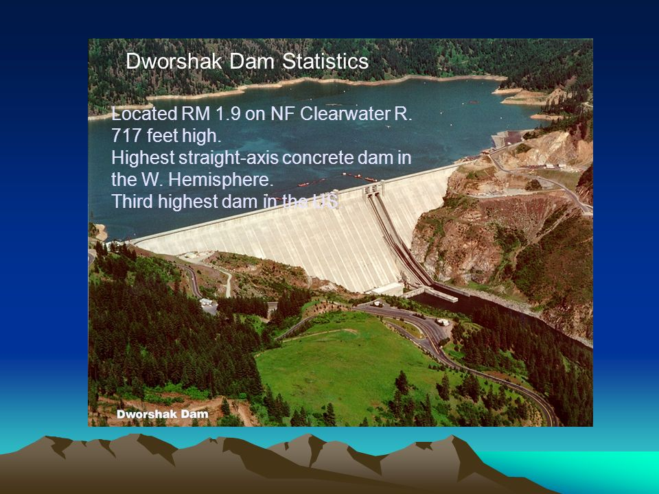 Dworshak Dam Statistics Located RM 1.9 on NF Clearwater R.