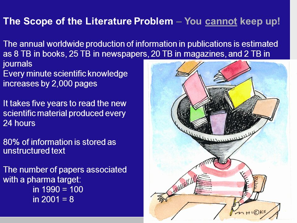 The Scope of the Literature Problem – You cannot keep up.