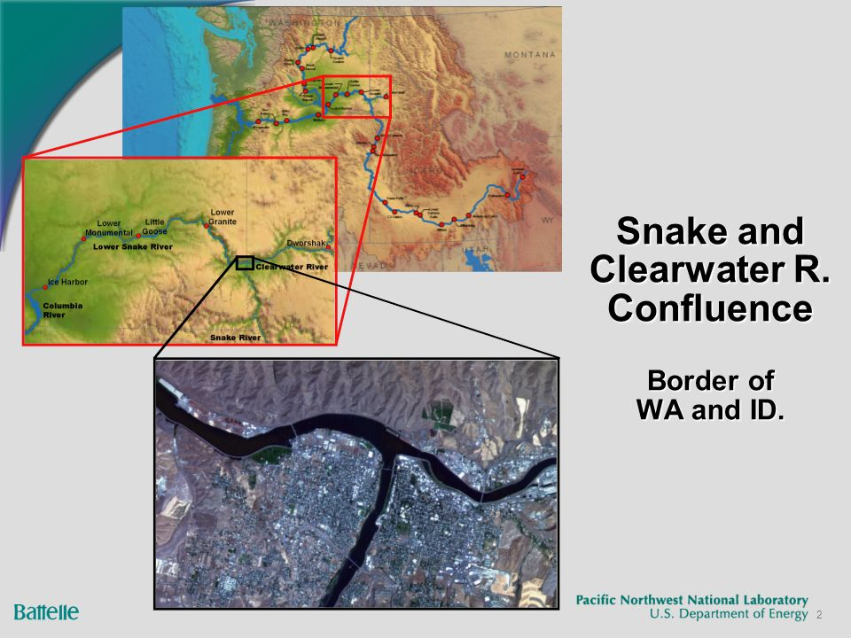 2 Snake and Clearwater R. Confluence Border of WA and ID.