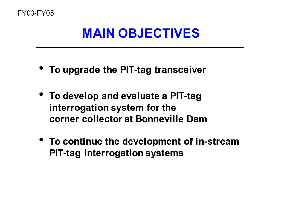 Available PIT-tag technologies were inadequate 2 x 6 Largest antenna size (pretty small stream) No grid power in many locations 2002 Transceiver could only power one antenna, operate on AC, and would need maintenance attention whenever environmental conditions changed