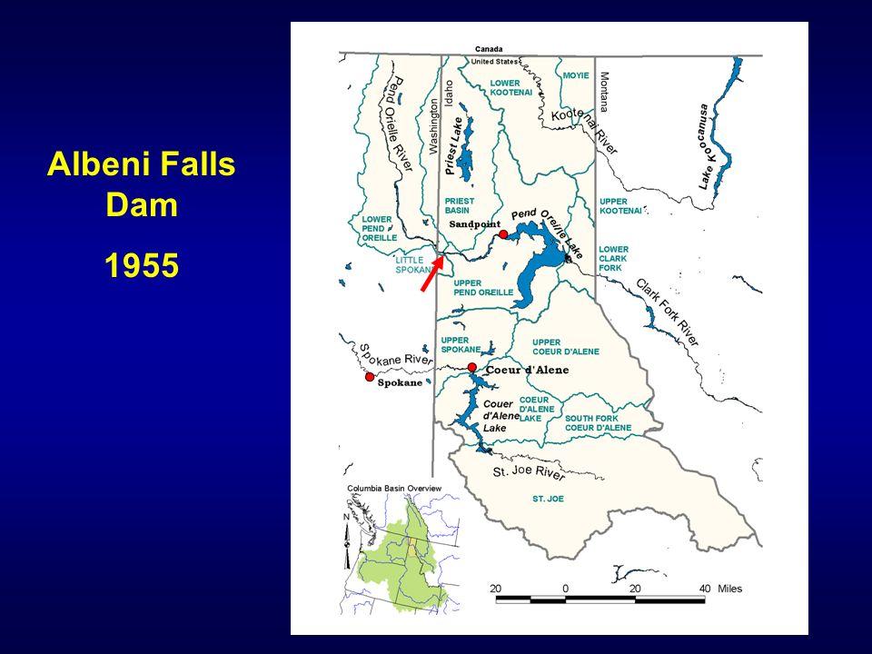 Albeni Falls Dam 1955