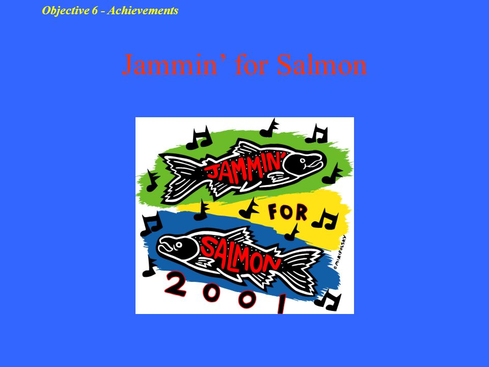 Jammin for Salmon Objective 6 - Achievements
