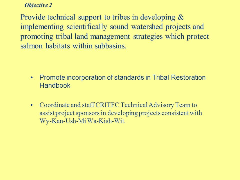 Tribal Watershed Handbook Objective 2 - Achievements