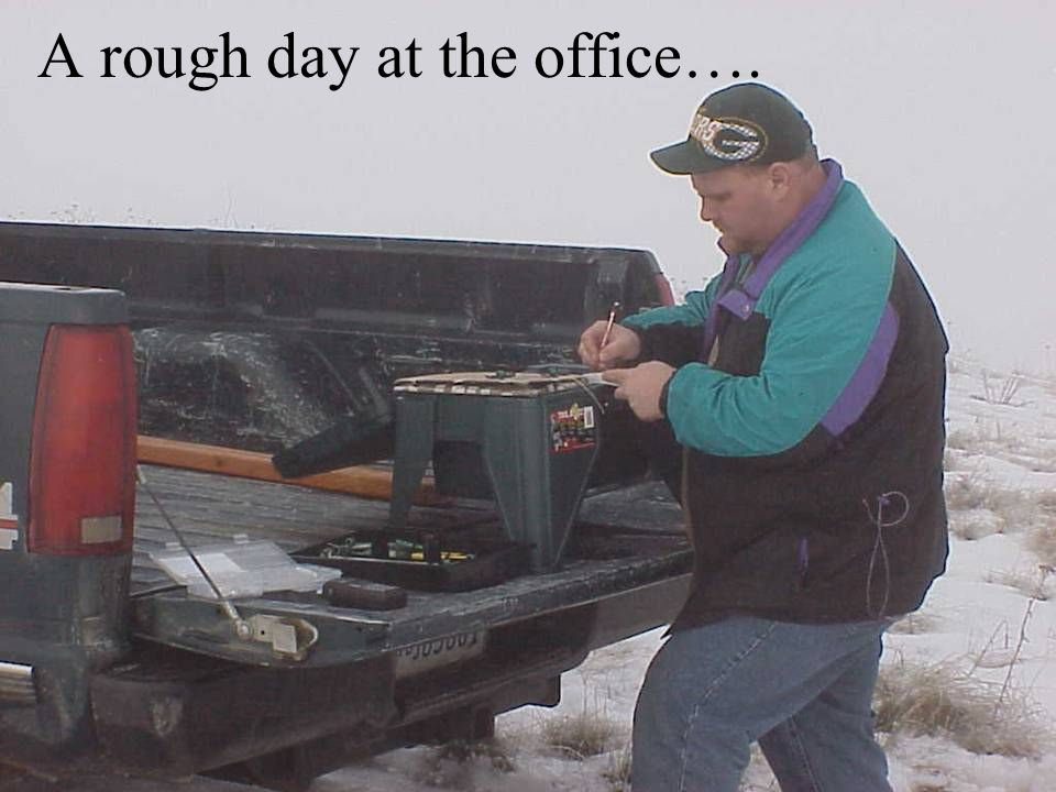 A rough day at the office….