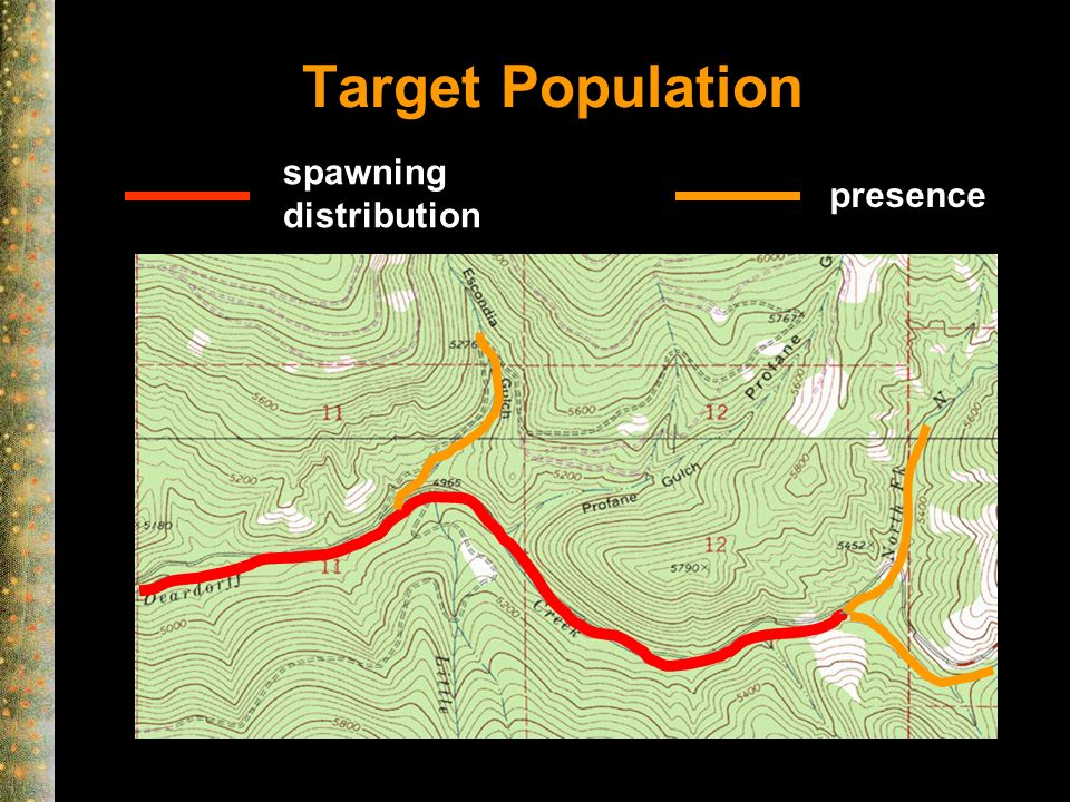 Target Population spawning distribution presence