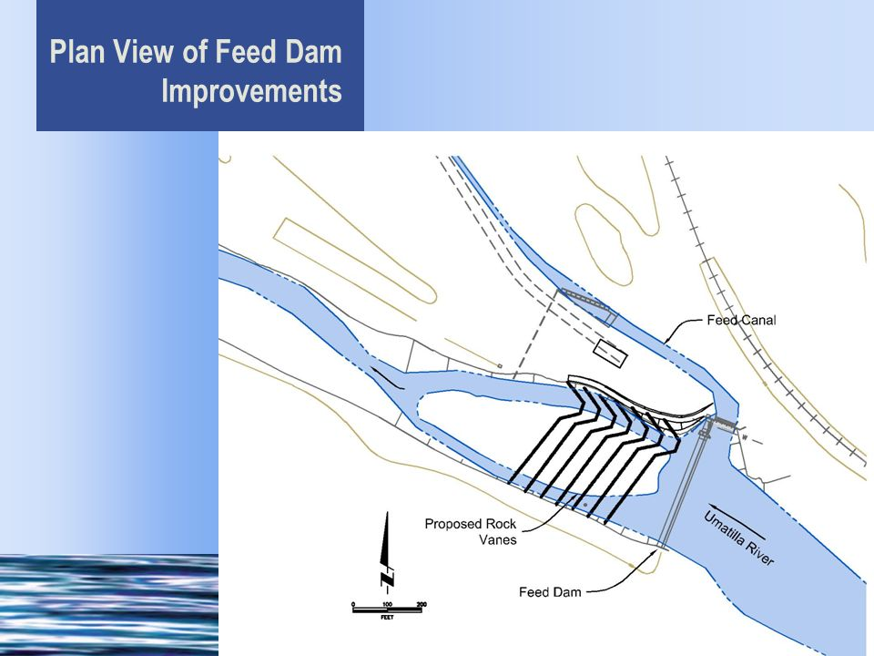 Plan View of Feed Dam Improvements