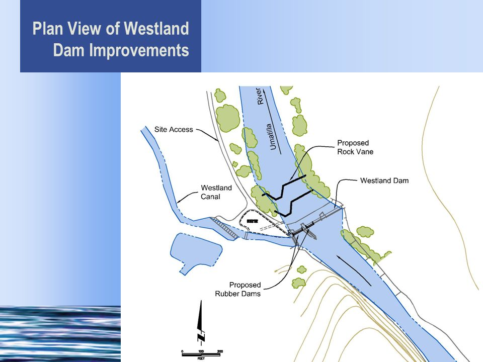 Plan View of Westland Dam Improvements