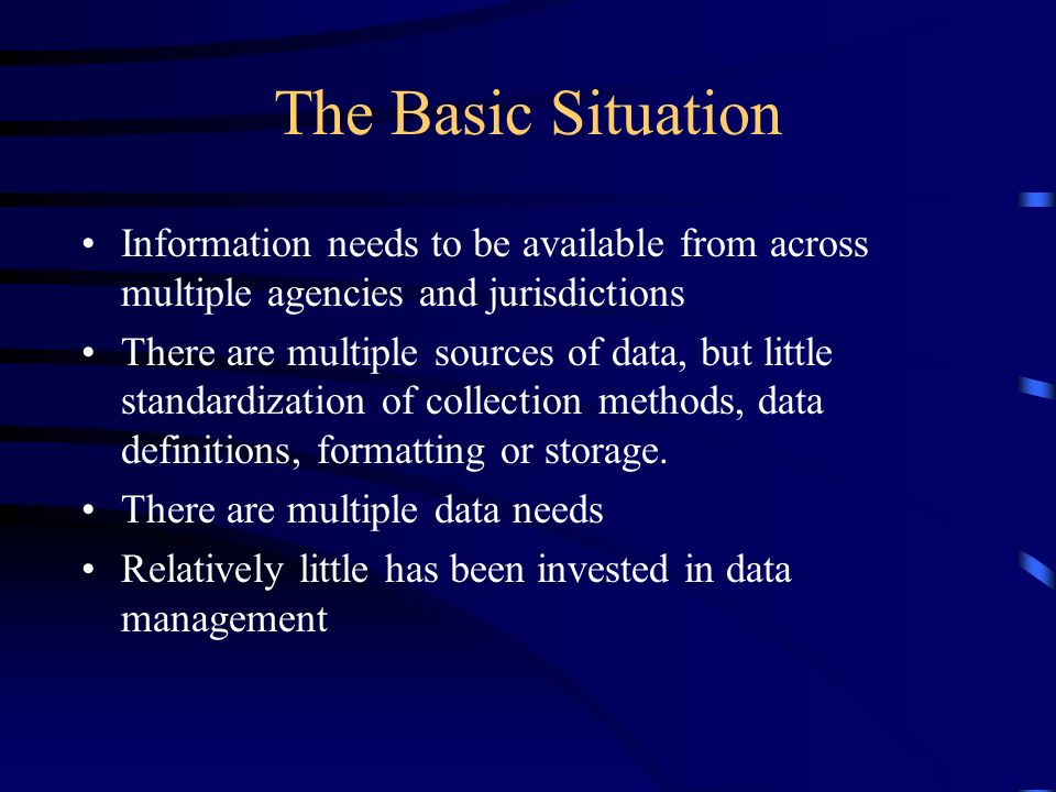 Database Support Is Vital to Regional Scale Management, Planning, and Restoration The region needs to get maximum value out of the sampling work currently going on –Take existing data gathered for local use and make them available to all regional entities for regional uses –Make data from multiple independent sources consistent and compatible