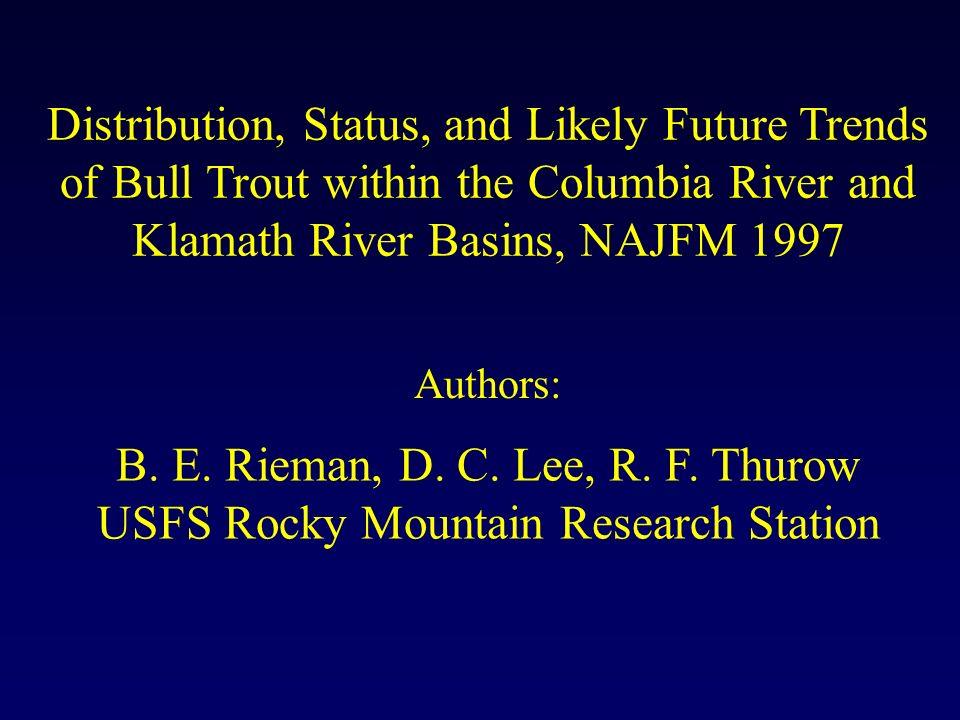 B. E. Rieman, D. C. Lee, R. F.