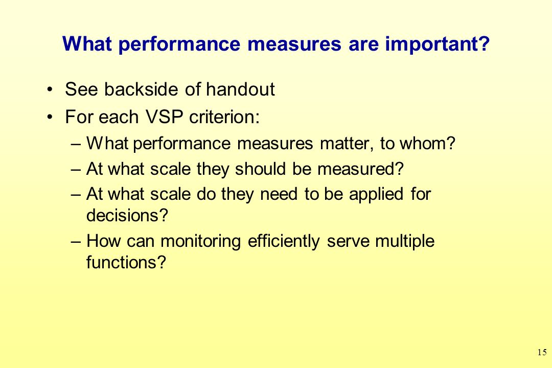 15 What performance measures are important.