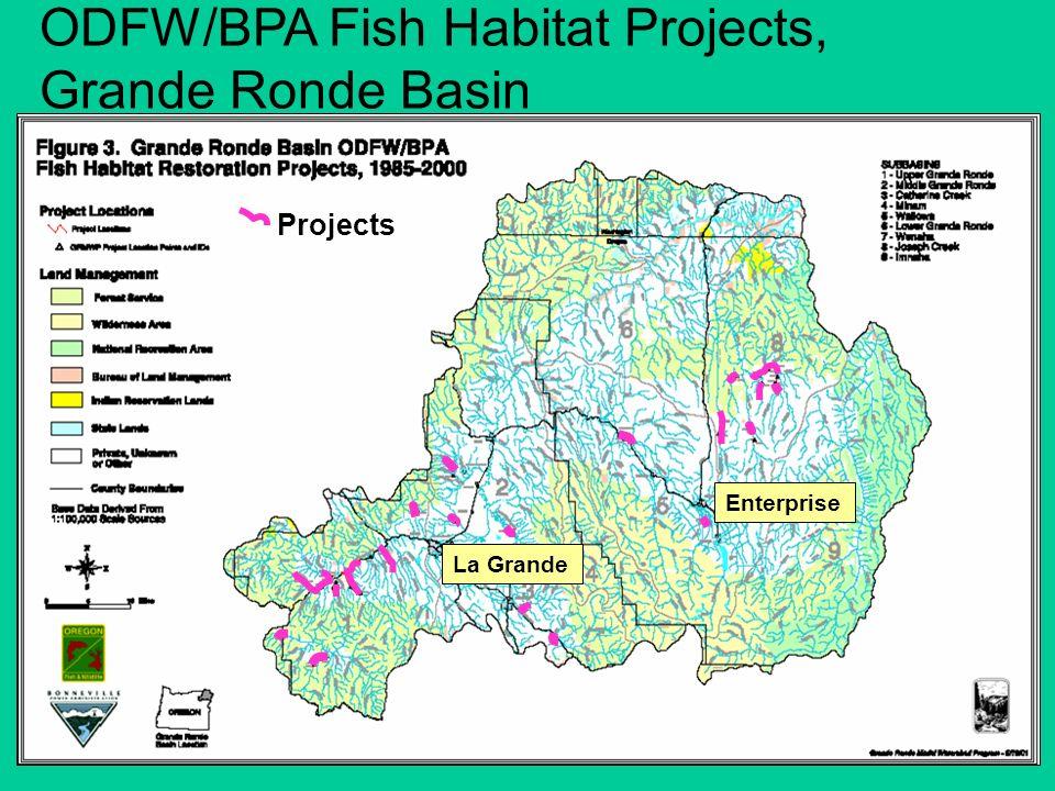 ODFW/BPA Fish Habitat Projects, Grande Ronde Basin Projects La Grande Enterprise