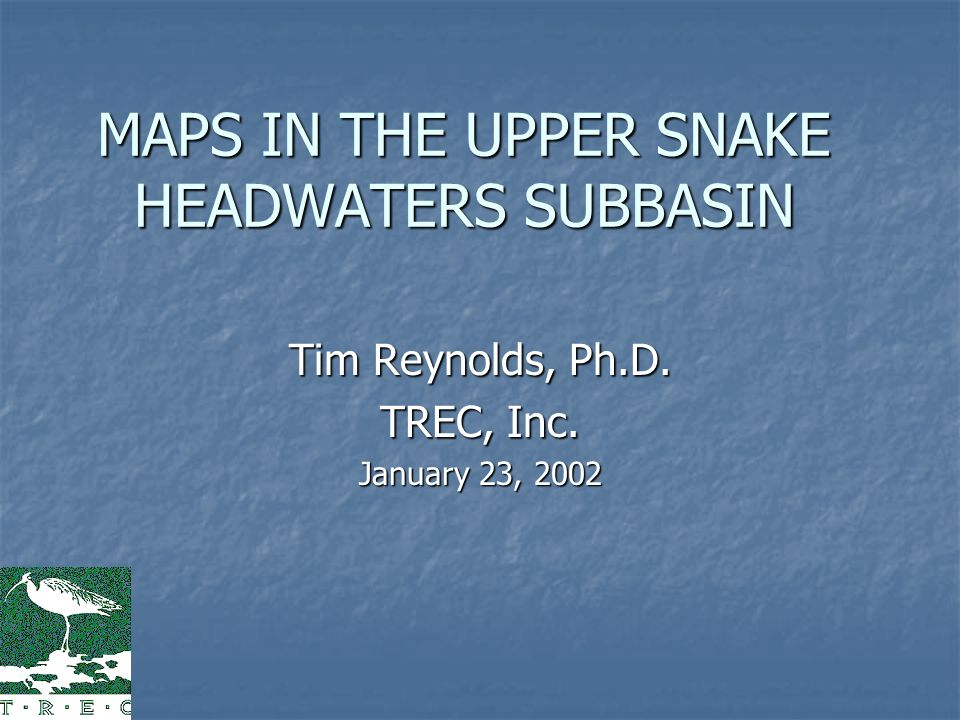 Objective Describe proposed avian monitoring effort for Upper Snake Headwaters Subbasin, Idaho Describe proposed avian monitoring effort for Upper Snake Headwaters Subbasin, Idaho