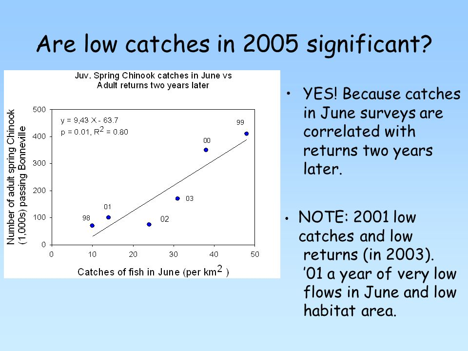 Are low catches in 2005 significant. YES.