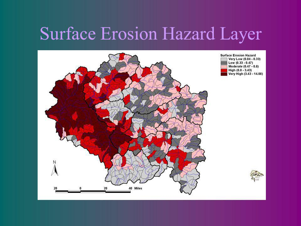 Surface Erosion Hazard Layer