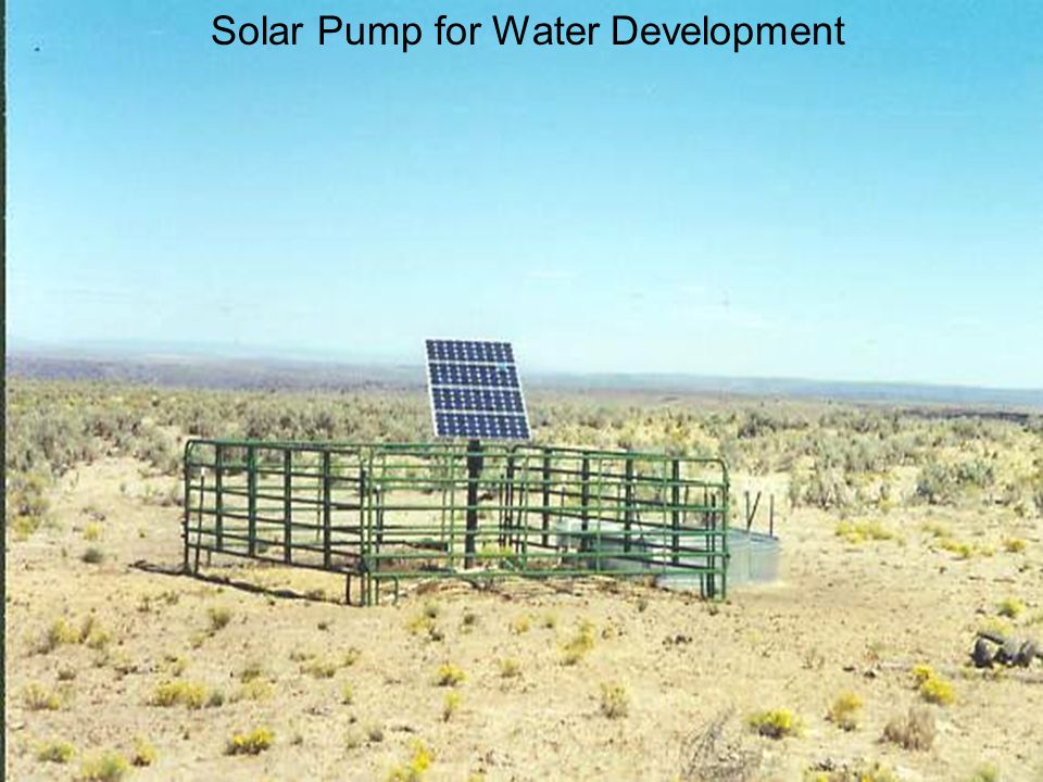 Solar Pump for Water Development