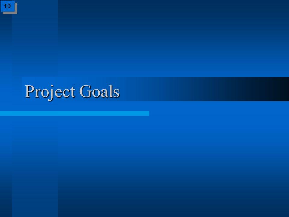 Project Goals 10
