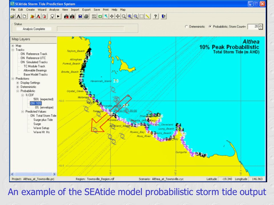 An example of the SEAtide model probabilistic storm tide output