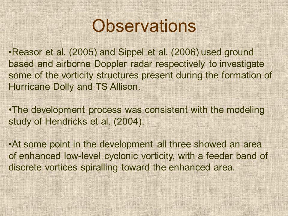 Observations Reasor et al. (2005) and Sippel et al.