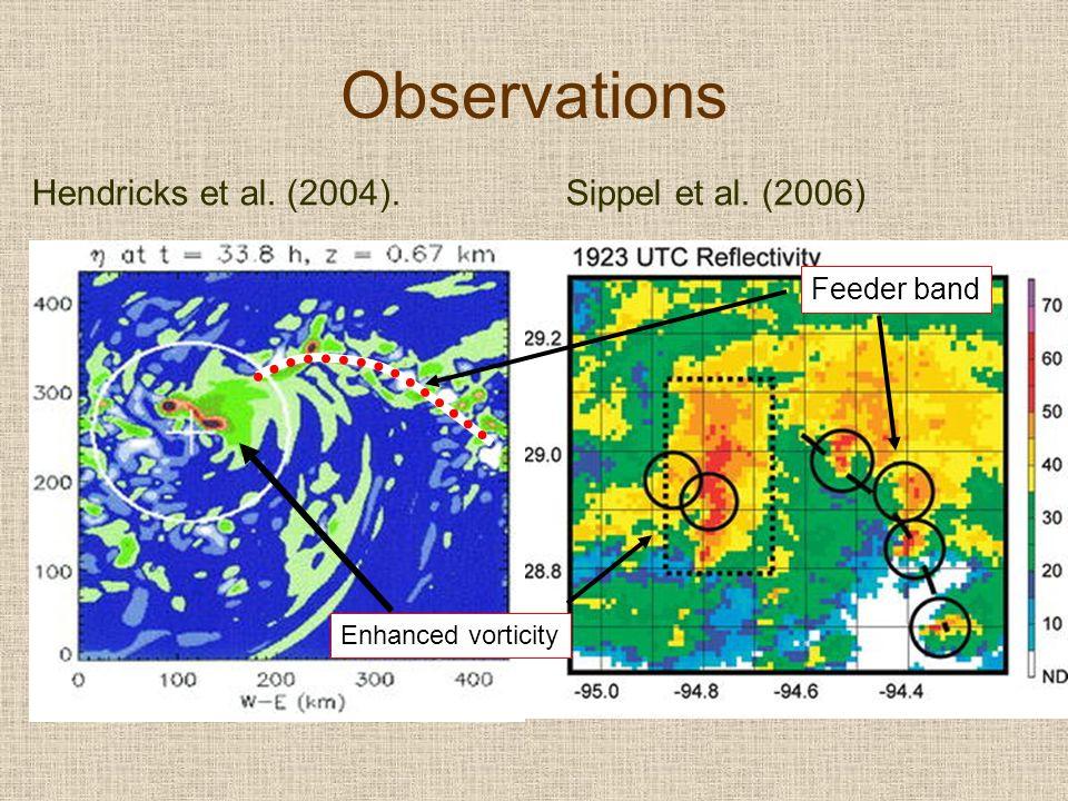 Observations Hendricks et al. (2004).Sippel et al. (2006) Feeder band Enhanced vorticity