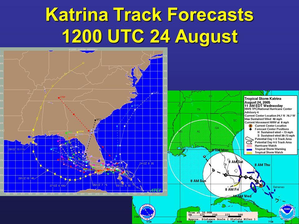 Katrina Track Forecasts 1200 UTC 24 August
