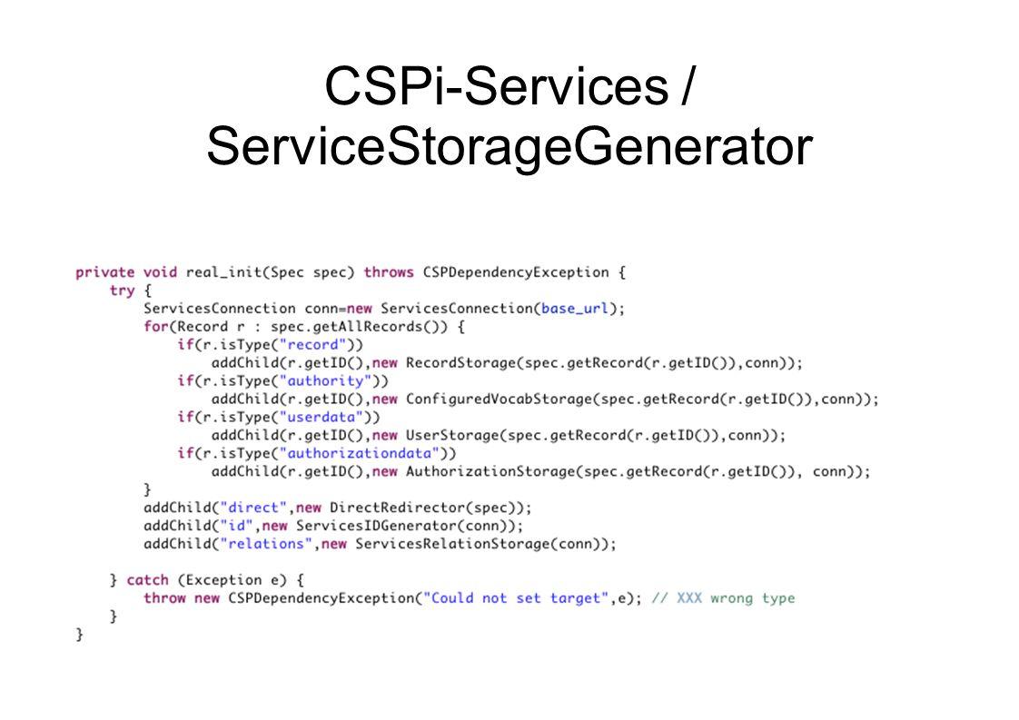 CSPi-Services / ServiceStorageGenerator