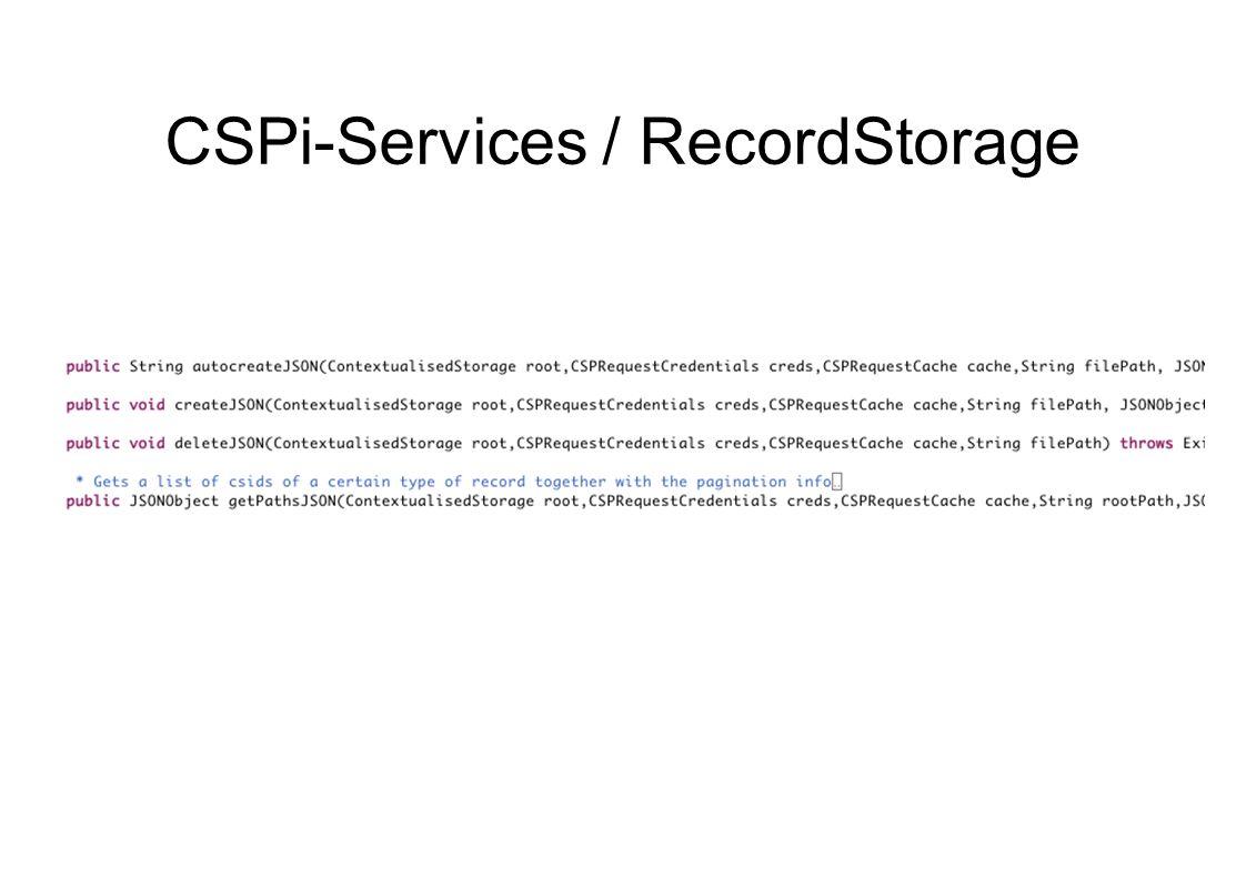 CSPi-Services / RecordStorage