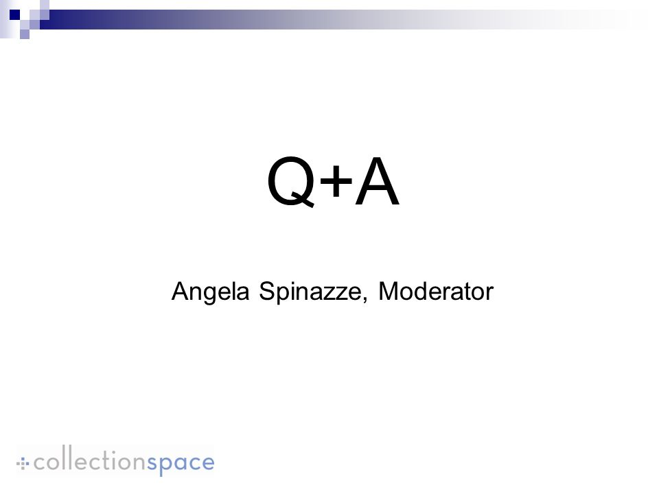 Q+A Angela Spinazze, Moderator
