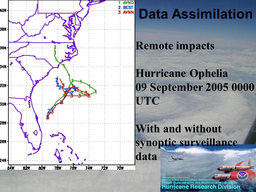 Remote impacts Hurricane Ophelia 09 September 2005 0000 UTC With and without synoptic surveillance data
