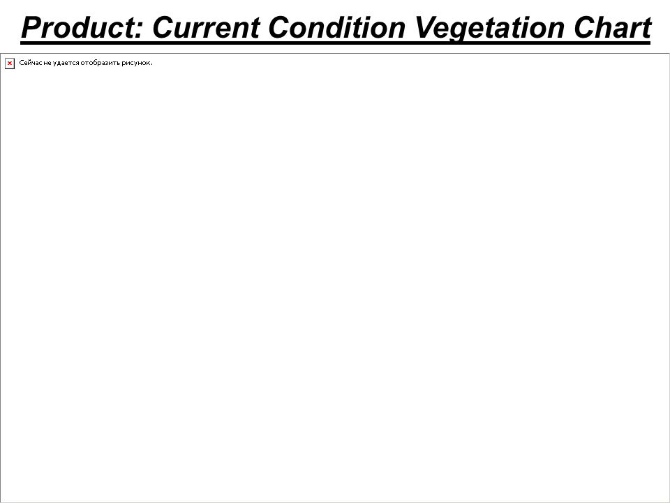 Product: Current Condition Vegetation Chart