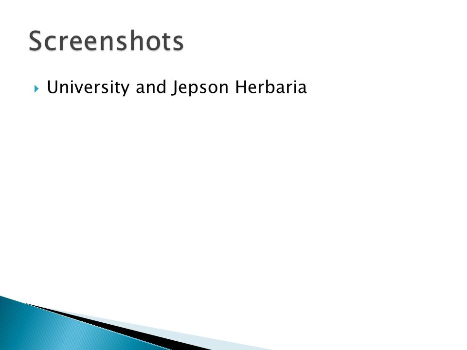 University and Jepson Herbaria