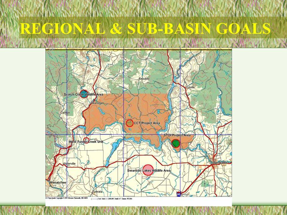 REGIONAL & SUB-BASIN GOALS
