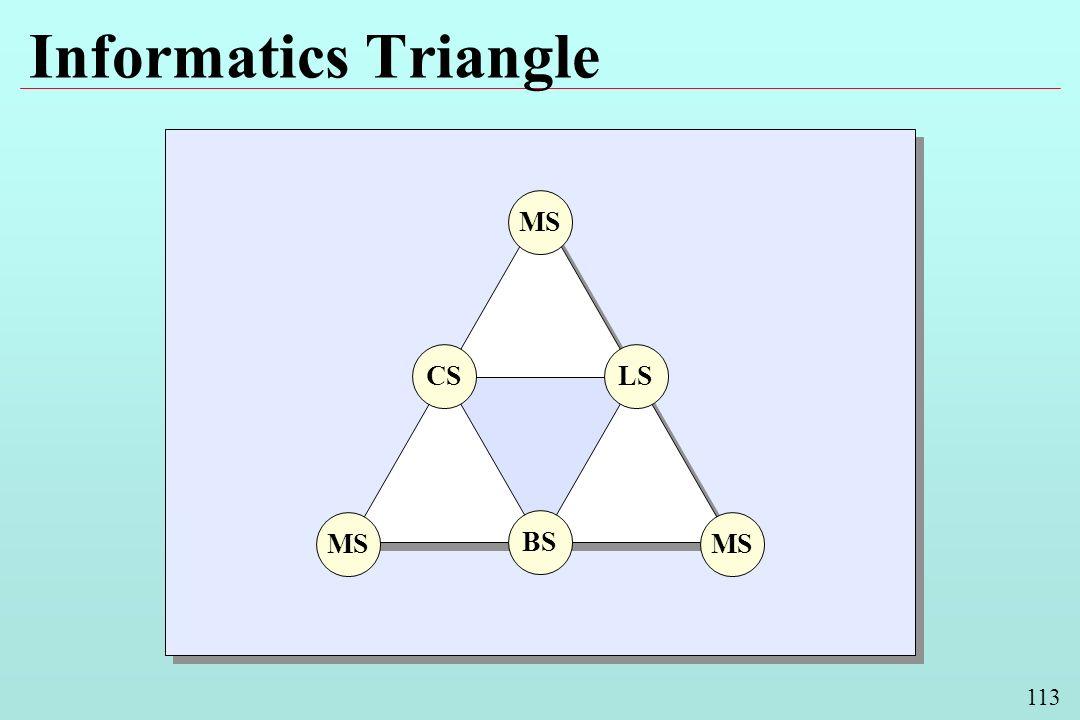 113 Informatics Triangle BS LSCS MS