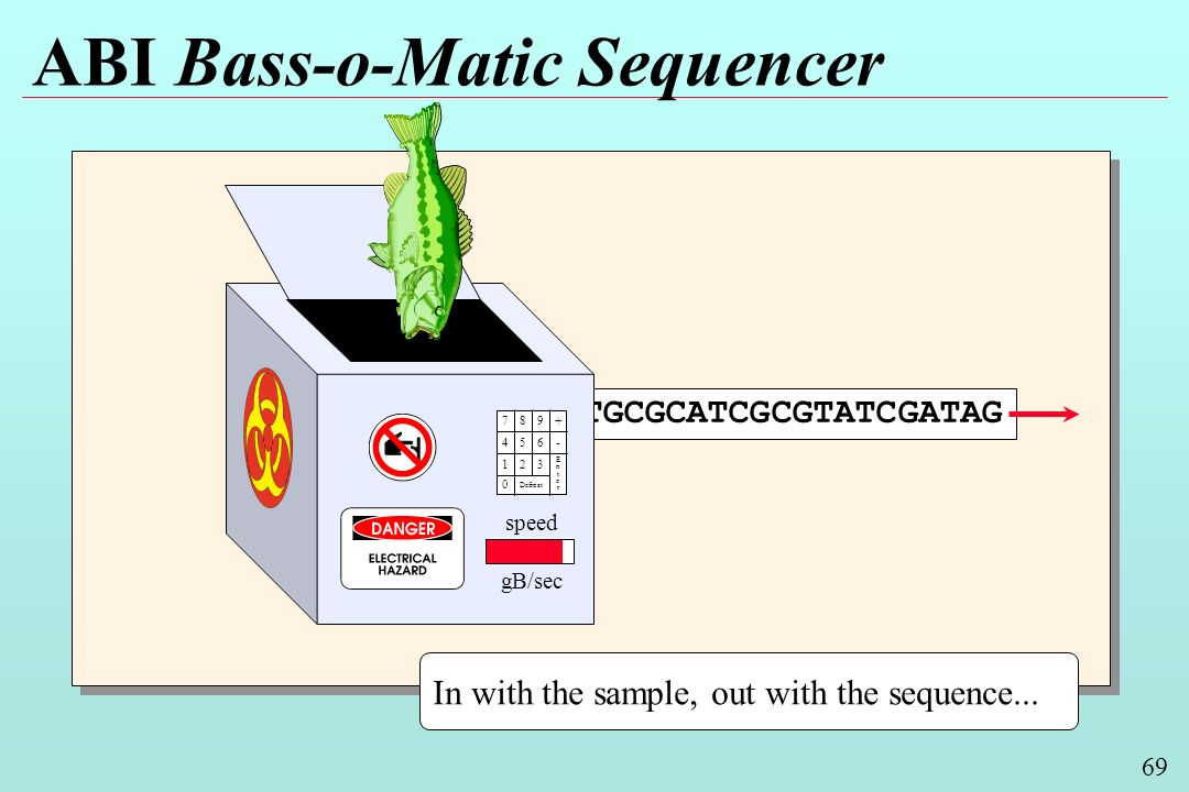 69 ABI Bass-o-Matic Sequencer In with the sample, out with the sequence...