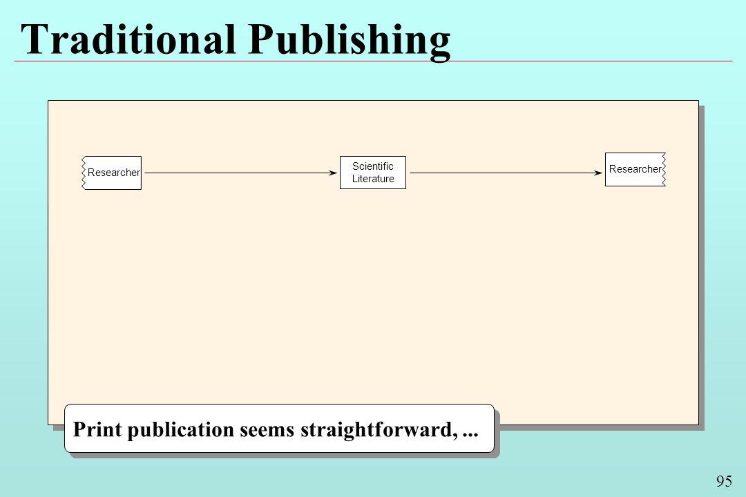 95 Traditional Publishing Scientific Literature Researcher Print publication seems straightforward,...