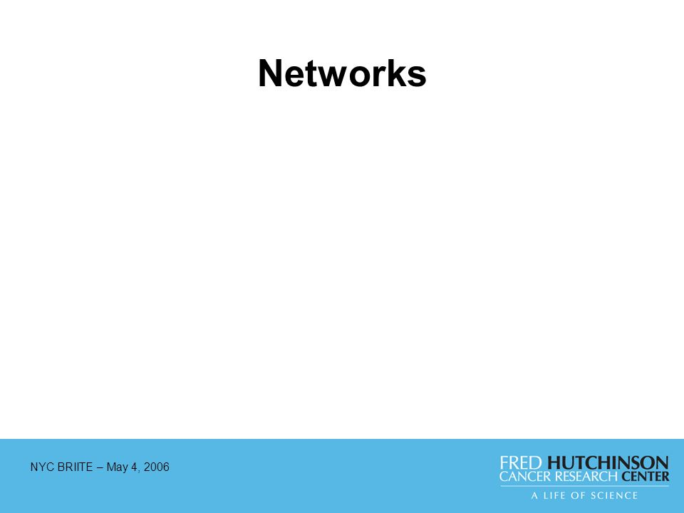 NYC BRIITE – May 4, 2006 Networks