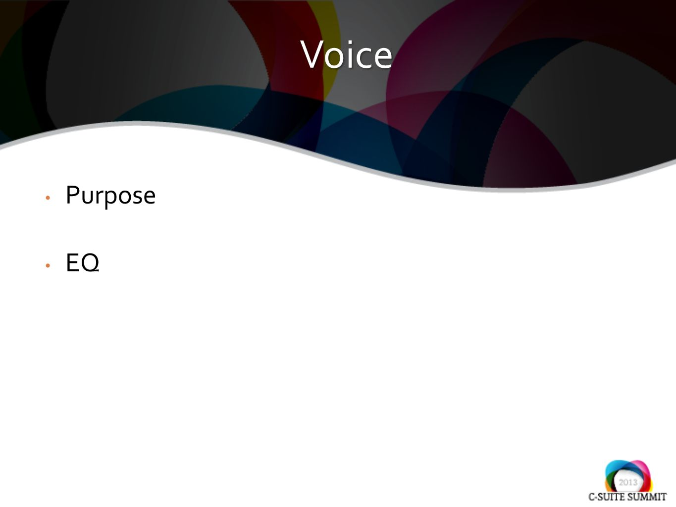 Purpose EQ Voice