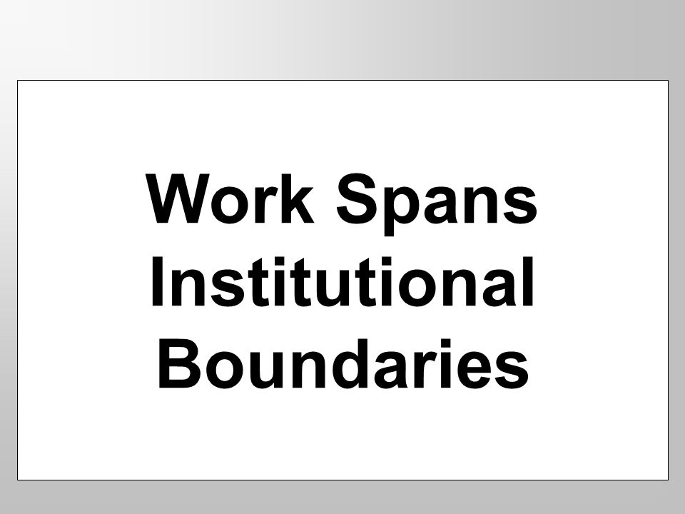Work Spans Institutional Boundaries