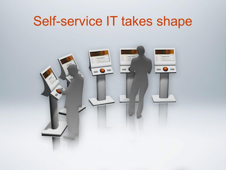 Self-service IT takes shape