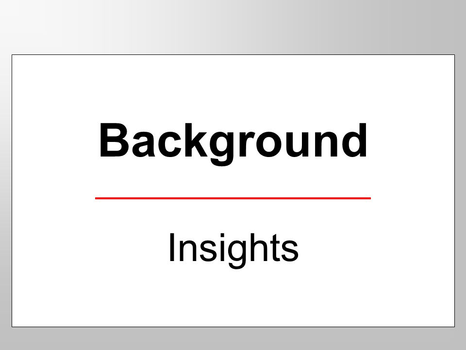 Background Insights